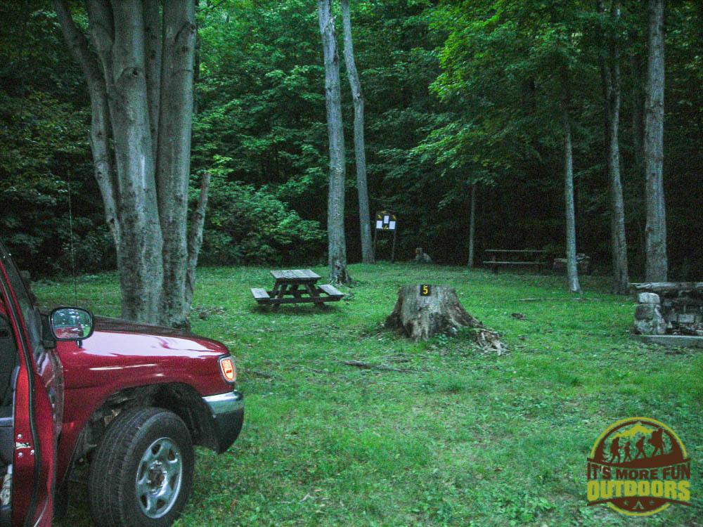 The campground at the base of the mountain. 9/6/2009: Poke-O-Moonshine Hike, Adirondacks, NY