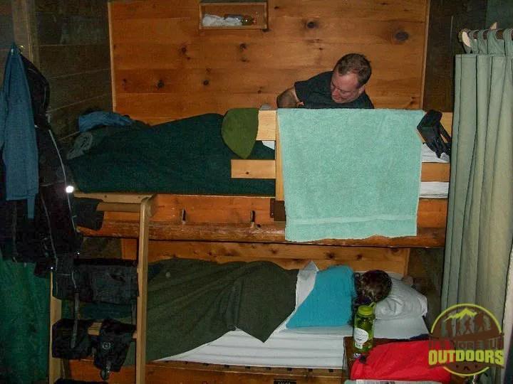 Can't remember if this was a 4 or 6-person bunkroom at the Adirondak Loj at Heart Lake, Lake Placid, NY, Adirondacks