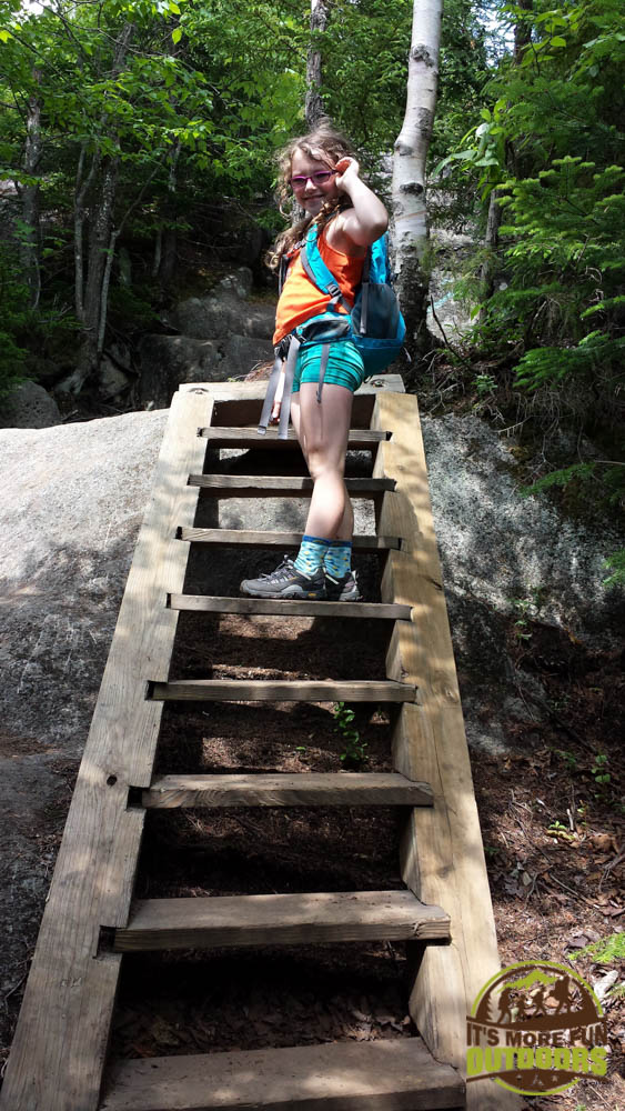 Dora on a steeper section of the Mt. Jo trail, a short but steep hike with very rewarding views. The trail starts just steps away from the Adirondak Loj at Heart Lake, Lake Placid, Adirondacks, NY