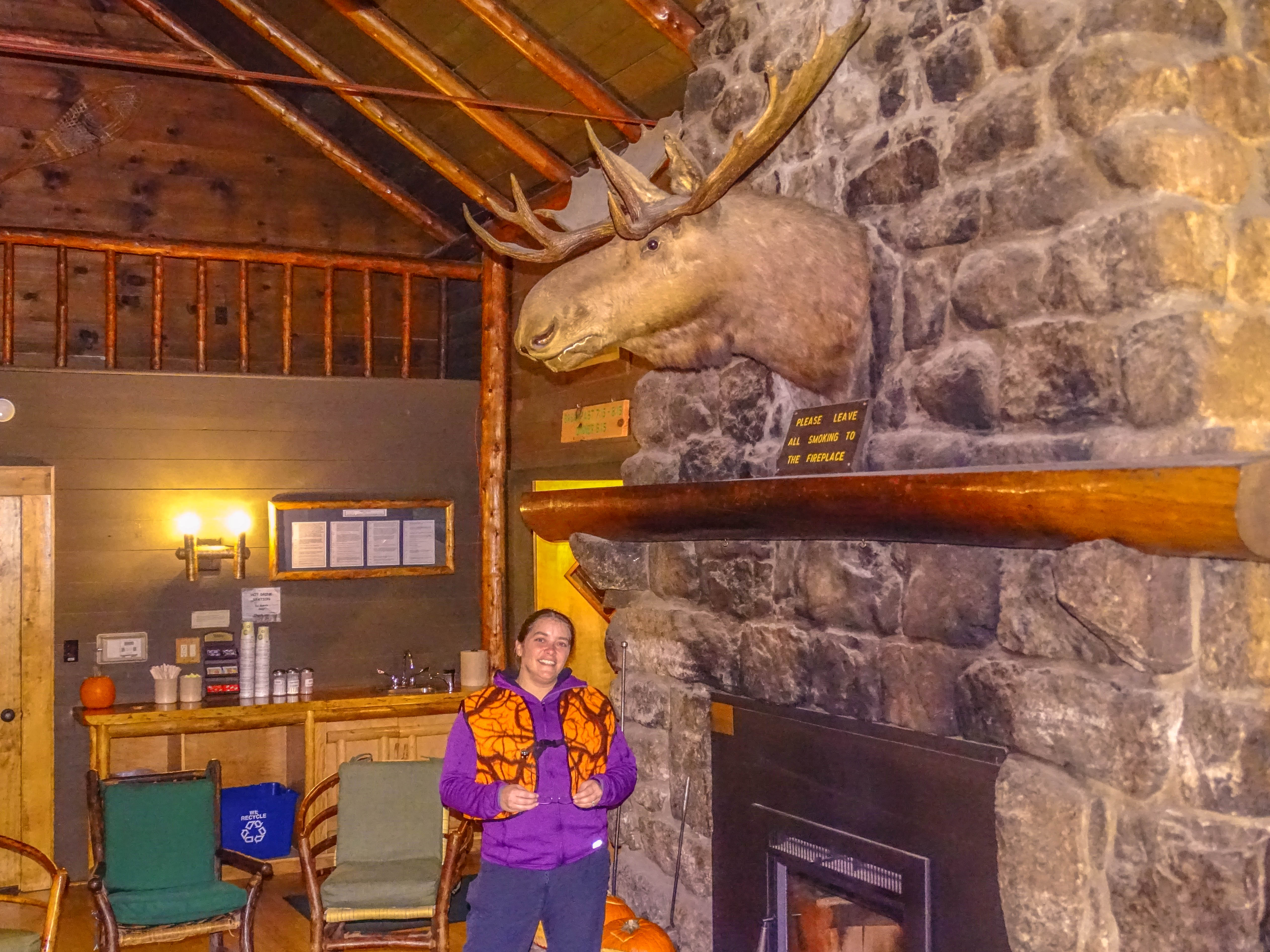 Me by the fire in the Great Room of the Adirondack Loj in Lake Placid, NY, Adirondacks