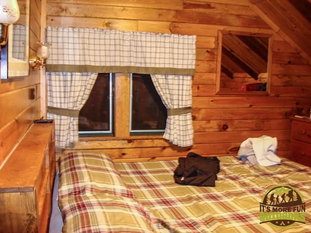 One of the private rooms at the Adirondak Loj at Heart Lake, Lake Placid, NY, Adirondacks