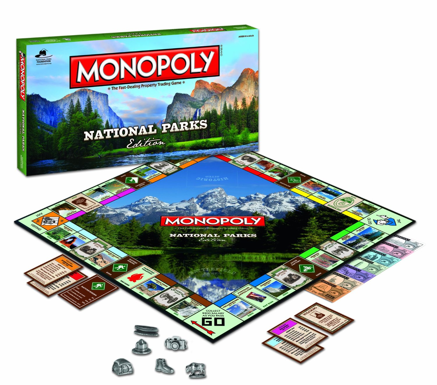MONOPOLY: National Parks Edition. Learn about our beautiful National Parks on Family Game Night!