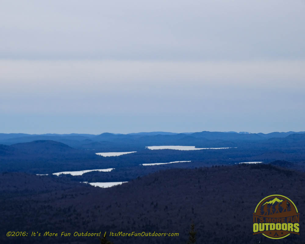 View from the tower. Owl's Head Winter Fire Tower Challenge Hike, Long Lake, NY, Adirondacks March 13, 2016