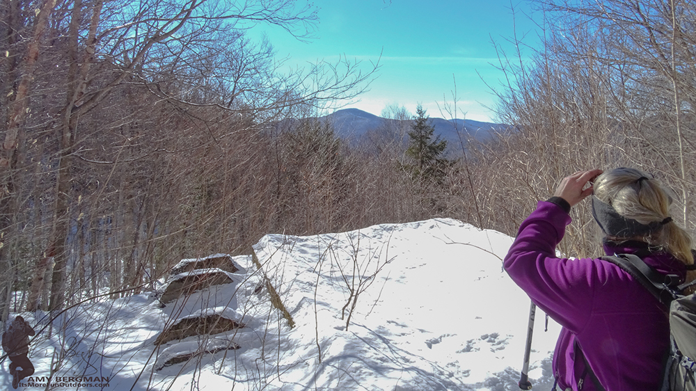 A Quick peek at the views to come! The Goodnow Mountain Trail. 2/22/16: Goodnow Mt Winter Fire Tower Challenge Hike with VIDEO!