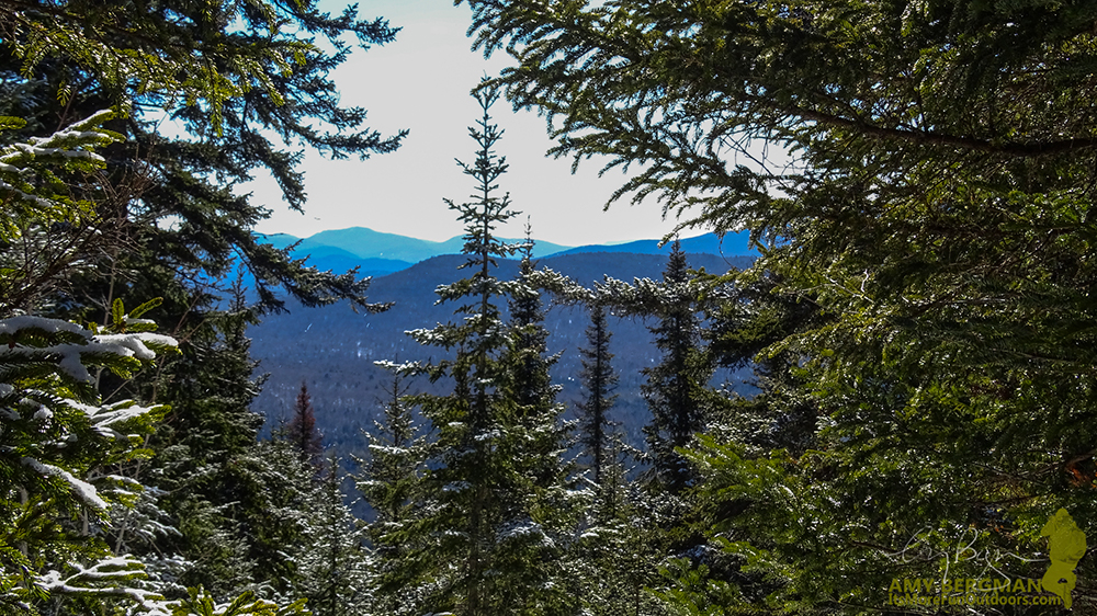 A little peak at the views to come from the summit! 2/22/16: Goodnow Mt. Winter Fire Tower Challenge Hike!