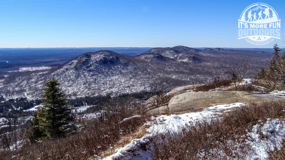 Lovely views from the summit ledge, even if you don't like climbing the towers! 3/19/2016: Winter hike-Azure Mountain Fire Tower, Debar Mountain Wild Forest, Adirondacks