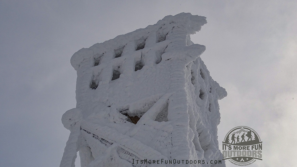 Sugar Frosted Fire Tower, WOWSERS! Blue Mountain Winter Fire Tower Challenge Hike!