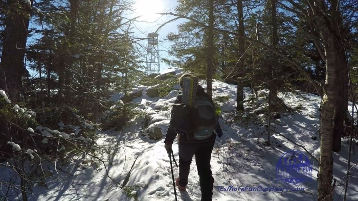 Blog & VIDEO! Bald [Rondaxe] Mountain and Fire Tower: SUPER FUN Winter Tower Challenge Hike!