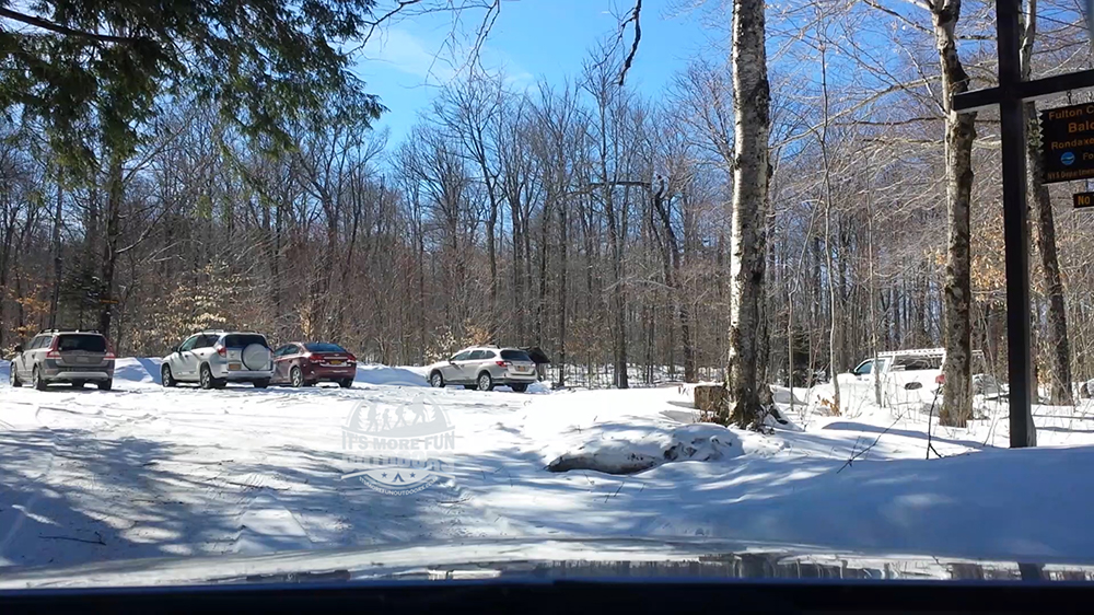 Ample parking at Bald Mountain, but this is a popular hike, so go early! 3/5/2017: Bald (Rondaxe) Mountain Winter Fire Tower Challenge Hike!