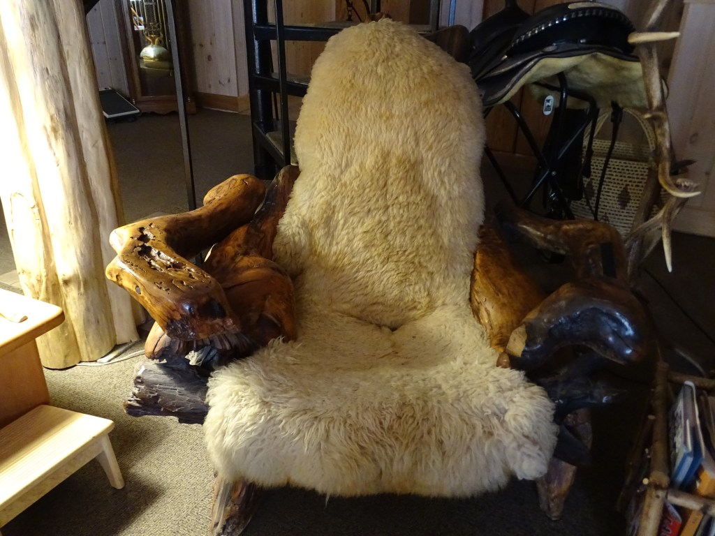 Super cool chair in the common area at the B&B. Lovely Northern Lights B&B is just ten minutes or so from the trail head. 2017-03-05-Stillwater Mountain Winter Fire Tower Challenge Hike!