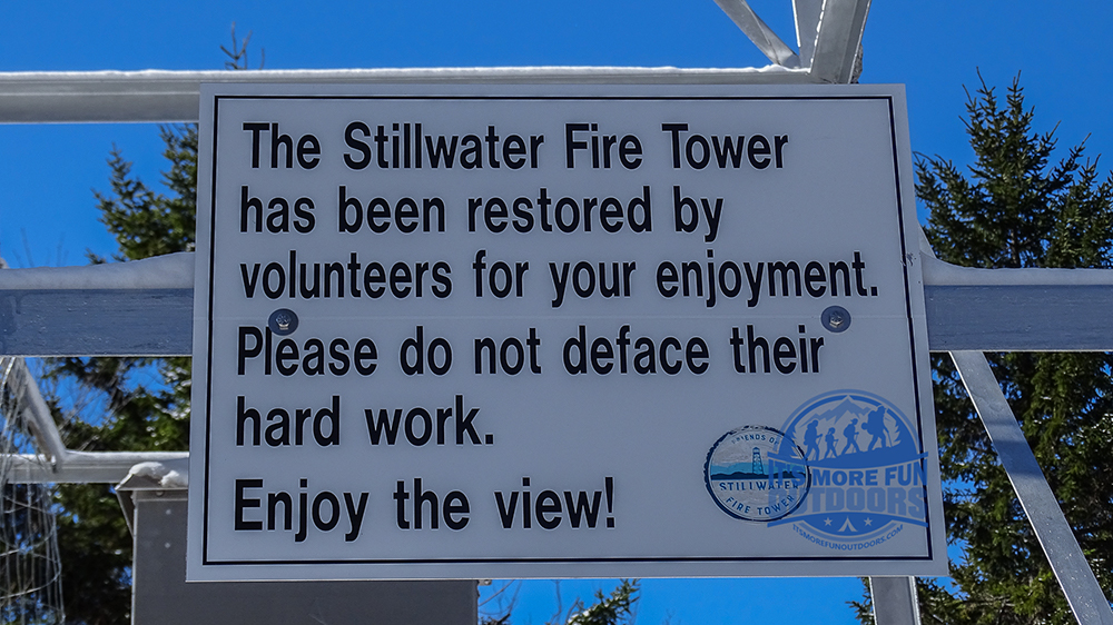 This tower has been open since summer and is still looking pristine after all of the hard work of volunteers! Stillwater Mountain Winter Fire Tower Challenge Hike! 3/5/17