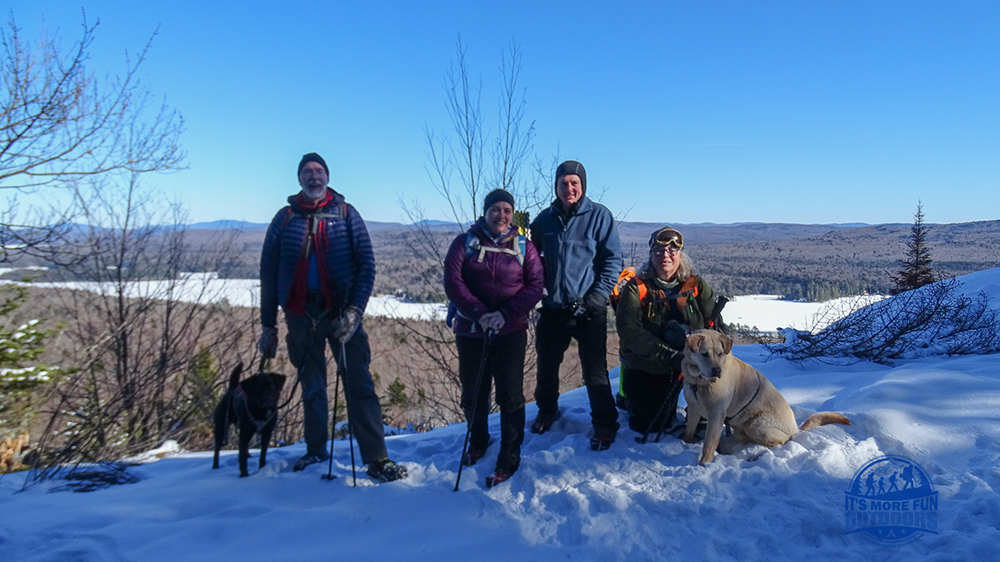 So awesome to meet our friends from the Vermont Paddle Pups blog on the trail! 3/5/2017: Bald (Rondaxe) Mountain Winter Fire Tower Challenge Hike!
