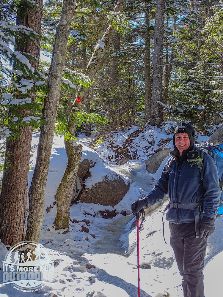 Such a gorgeous day to be out! 3/5/2017: Bald (Rondaxe) Mountain Winter Fire Tower Challenge Hike!