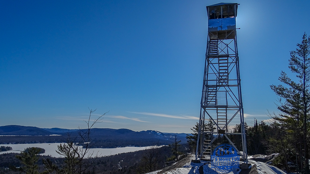 Endless views of the Fulton Chain of lakes and the mountains beyond. 3/5/2017: Bald (Rondaxe) Mountain Winter Fire Tower Challenge Hike!