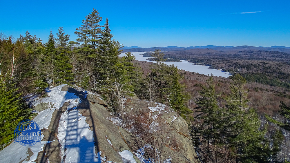 Loved these views and could have sat on the summit FOREVER. 3/5/2017: Bald (Rondaxe) Mountain Winter Fire Tower Challenge Hike!
