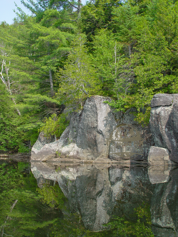 On a calm day, the reflections of the mountains, shoreline cliffs and vegetation are so deep you get vertigo looking down at them! Henderson Lake Kayak Camping, Tahawus Hike!