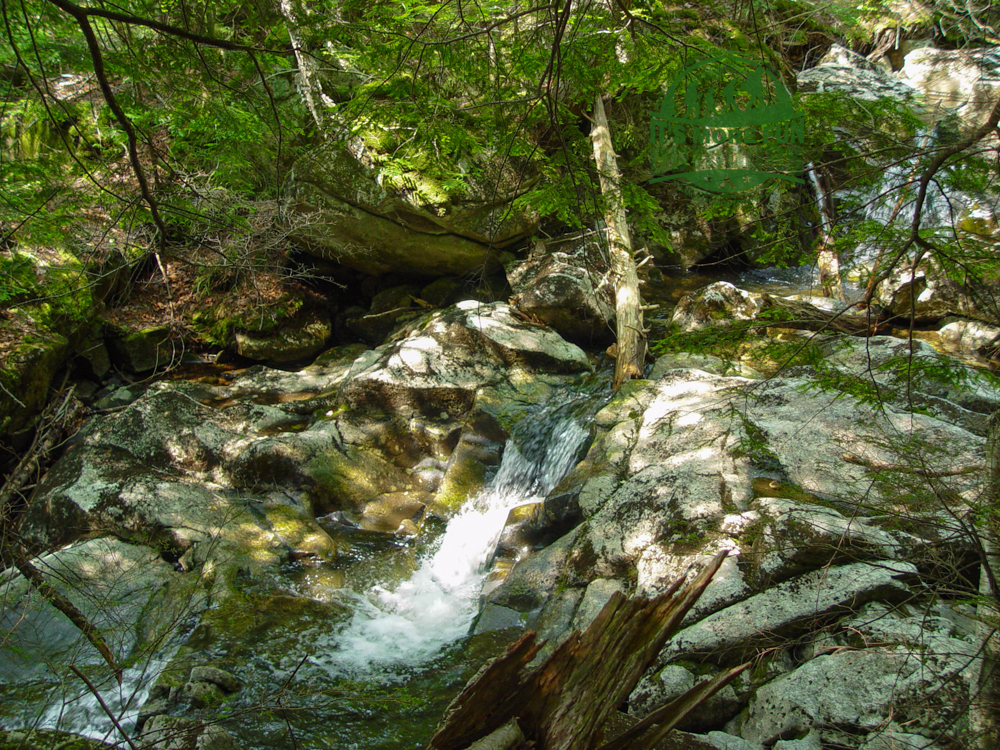 Pretty little brook next to the lean to site! Henderson Lake Kayak Camping, Tahawus Hike!
