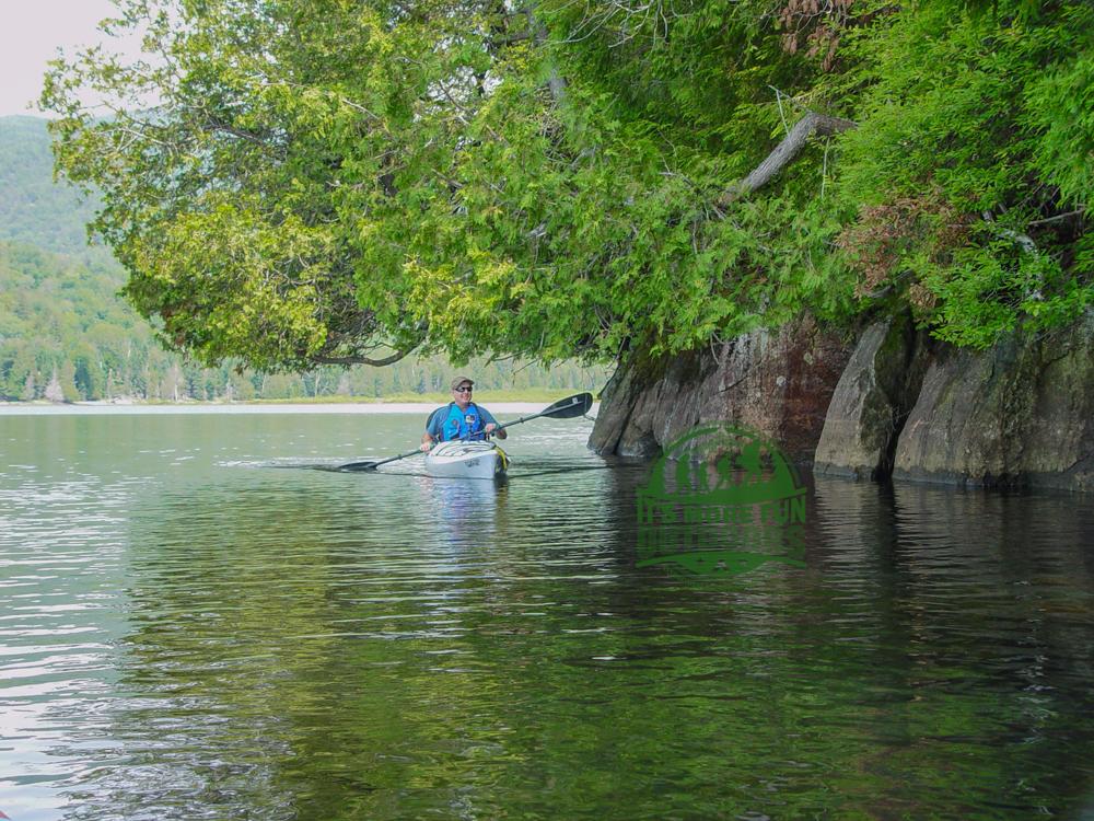 Paddling through tree tunnels! Henderson Lake Kayak Camping, Tahawus Hike!