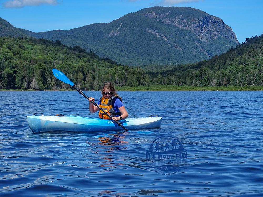 Wallface Mountain. Henderson Lake Kayak Camping, Tahawus Hike!
