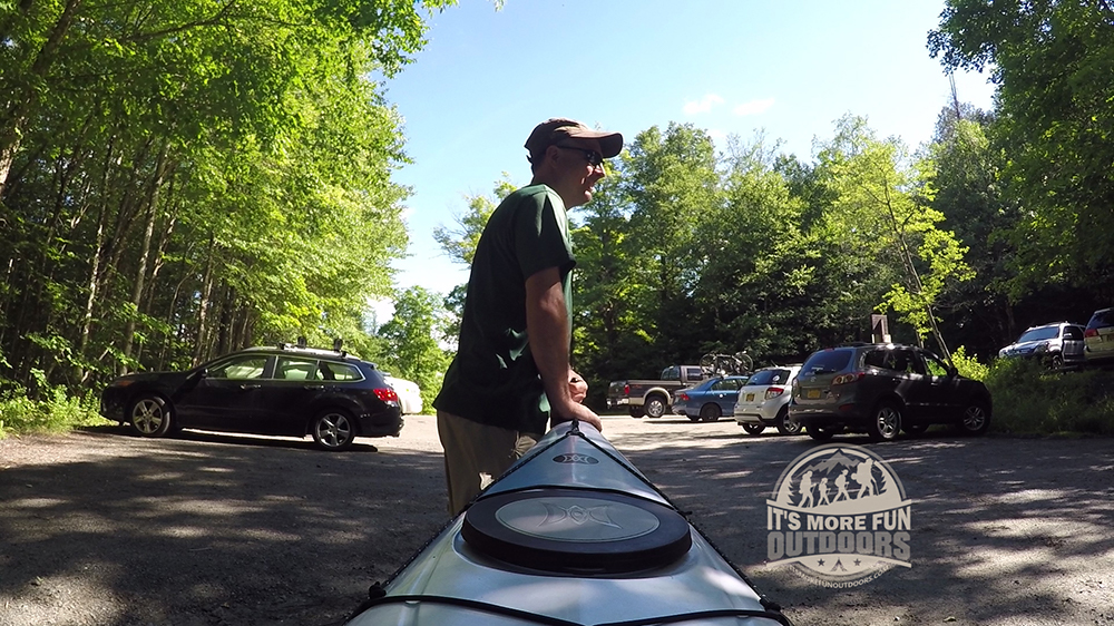 Parking for Henderson Lake is at the Upper Works trail head - it is large, but very popular for High Peaks hikers so it fills up! Henderson Lake Kayak Camping, Tahawus Hike!