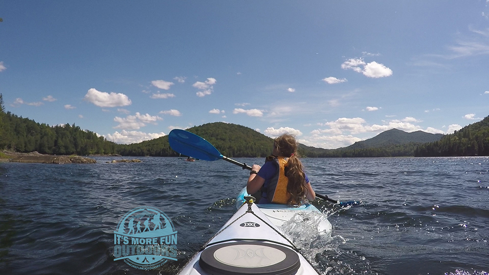 Henderson Lake can become choppy VERY quickly with a little wind. Henderson Lake Kayak Camping, Tahawus Hike!