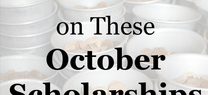 New October Scholarships for Week Four