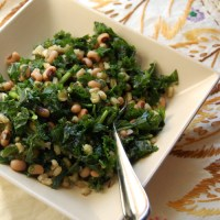 Mark Bittman's VB6 Diet (Kale Salad with Blackeyed Peas and Barley)