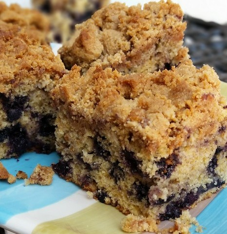 Blueberry Buckle Crumb Cake