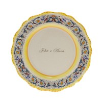 Dinner plate decoration ricco blu PERSONALIZED