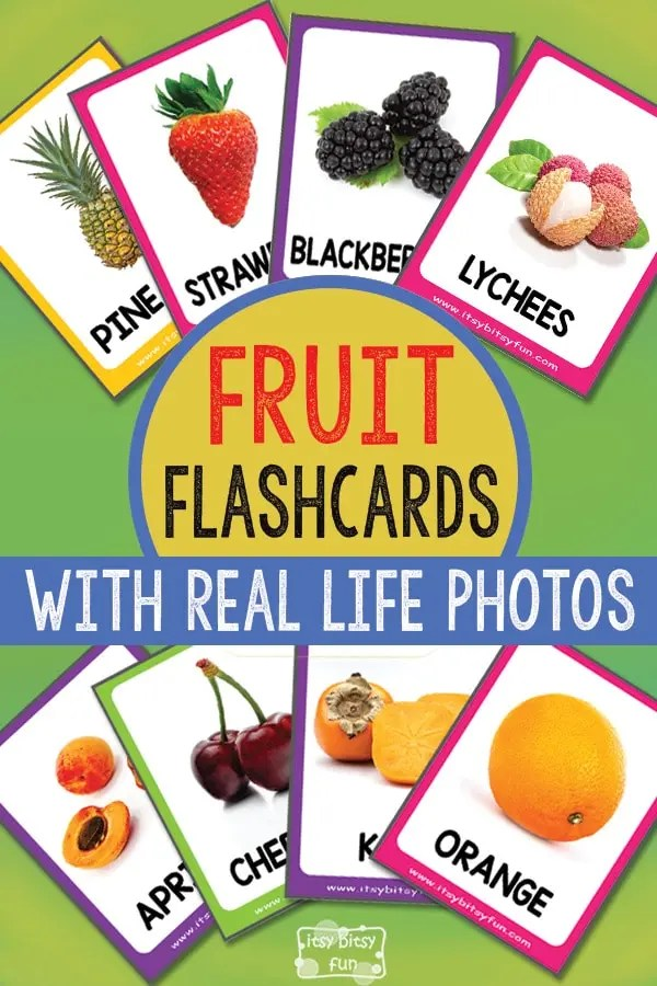 Fruit Flashcards with Real Life Photos - Itsy Bitsy Fun
