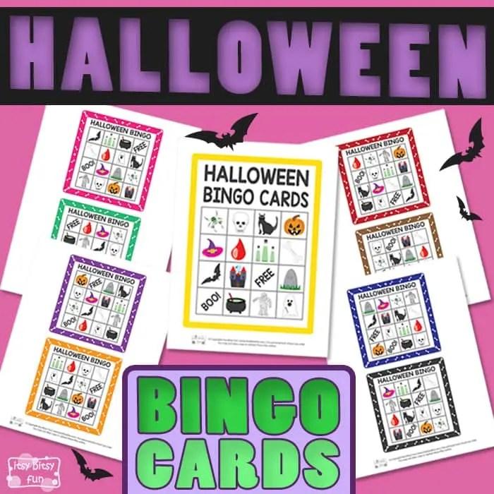 Printable Halloween Bingo Cards - Itsy Bitsy Fun