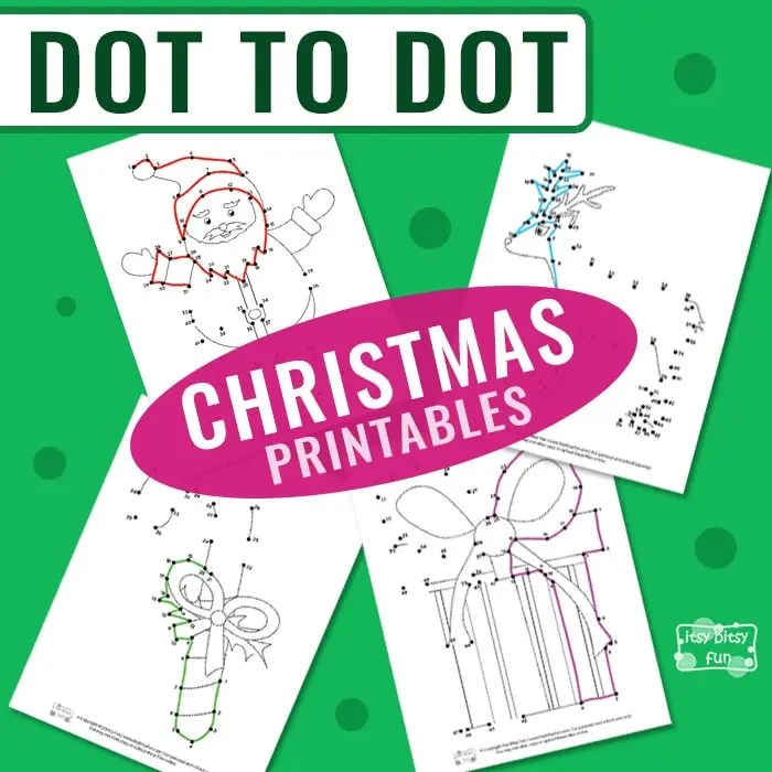 Christmas Connect the Dots - Itsy Bitsy Fun