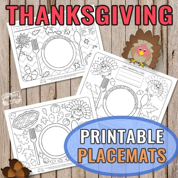 Printable Thanksgiving Day Placemats - Itsy Bitsy Fun