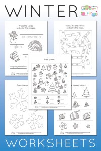 Free Printable Winter Worksheets For Kindergarten