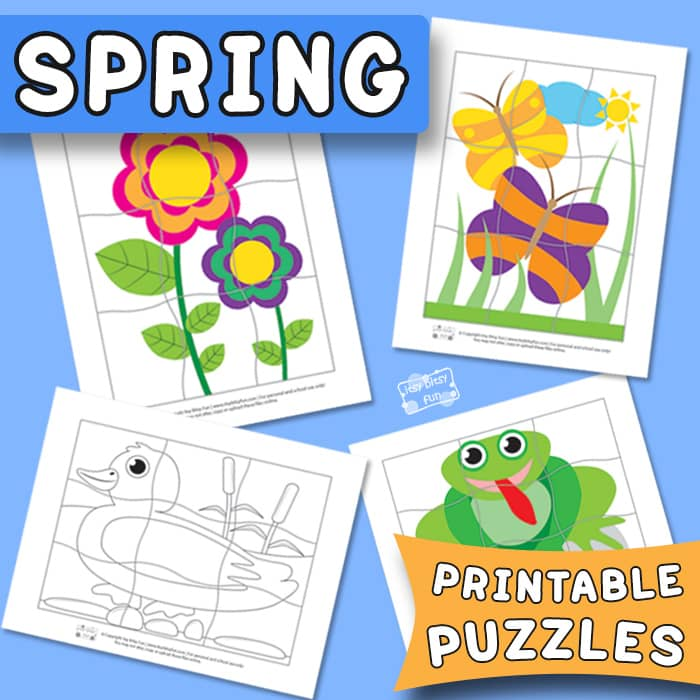 Spring Printable Puzzles for Kids - Itsy Bitsy Fun