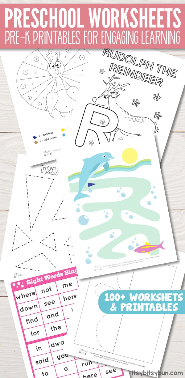 Preschool Worksheets - Pre-K Printables for Engaging Learning - Itsy