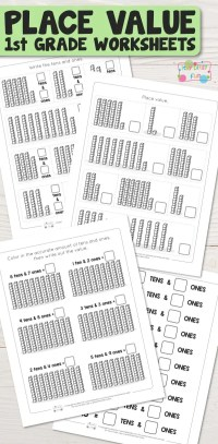 Place Value Worksheets for 1st Grade - Itsy Bitsy Fun