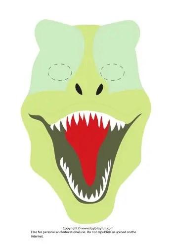 Printable Dinosaur Masks Templates (free) - Itsy Bitsy Fun