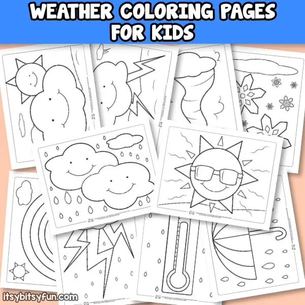 Weather Coloring Pages for Kids - Itsy Bitsy Fun