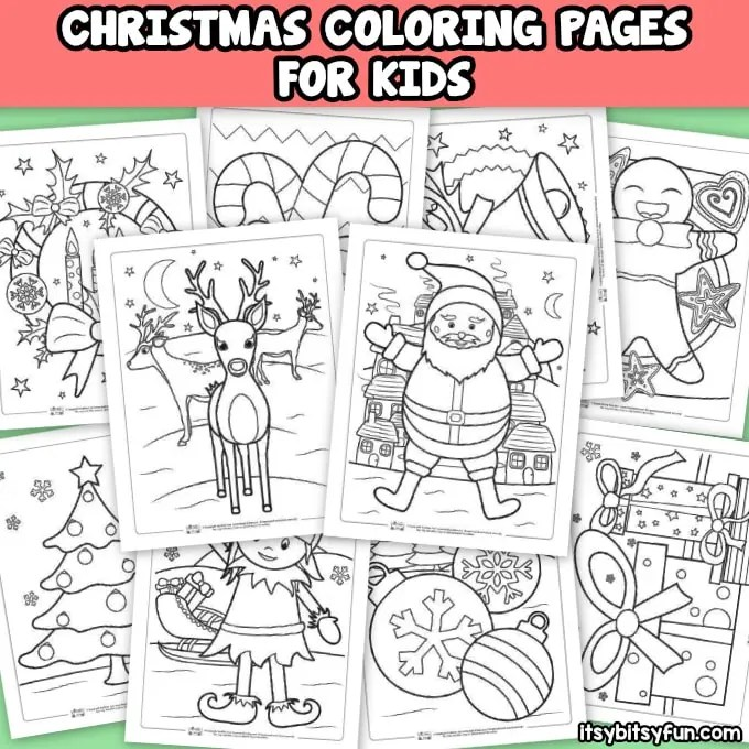 Free Christmas Coloring Pages - Itsy Bitsy Fun
