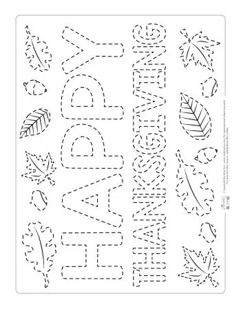 Thanksgiving Tracing Worksheets - Itsy Bitsy Fun