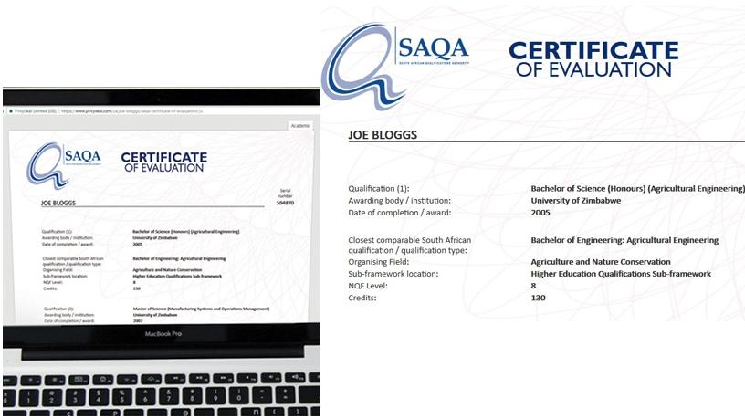 SA certificate evaluation goes digital ITWeb