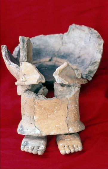 Zacpeten, Str 602, Patojo Modeled Censer (female deity) (Don Rice)