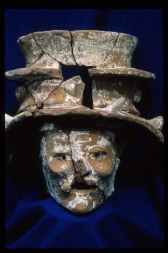 ceramic censer figure photo by Don Rice
