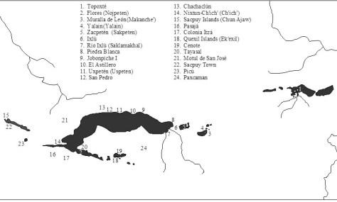 Sites of the Peten Lakes Region