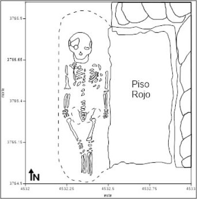 Plan of Burial 2, Unit 3766, 5433