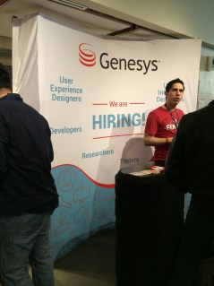 Genesys employee talks to Toronto Tech Summit 2015 attendees about what it's like to work at Genesys