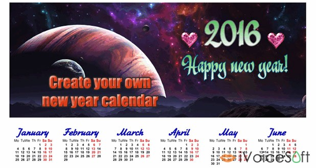 How to make a personalized calendar for 2016 - iVoicesoft