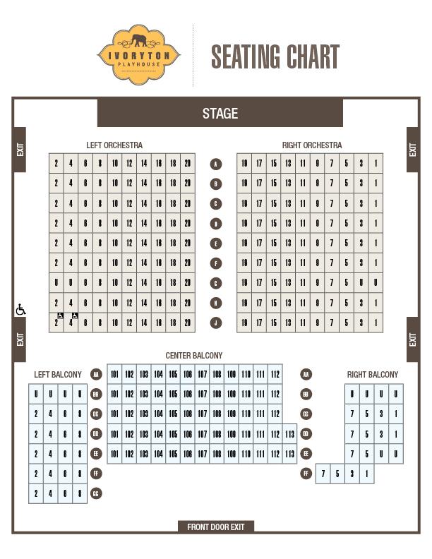 Seating Chart - Ivoryton Playhouse