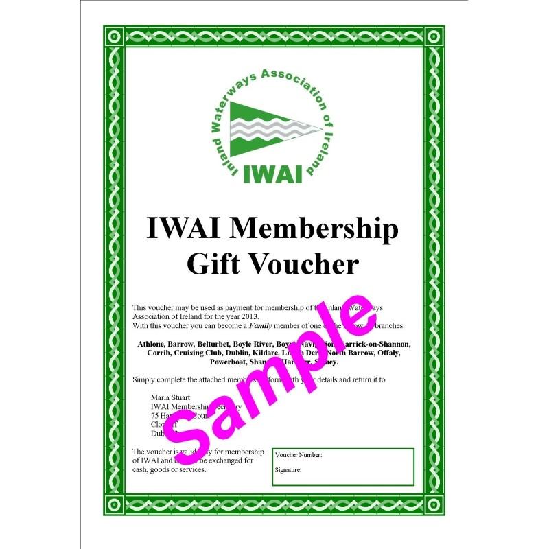 Membership Gift Voucher \u2013 IWAI - gift voucher examples